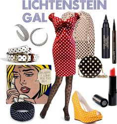 Lichtenstein Halloween Costume | Roy Lichtenstein Halloween Costume