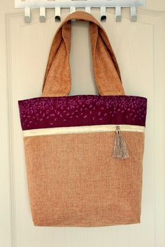 Tutorial per cucire: tote bag color block