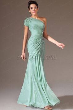 eDressit 2014 New Turquoise One Shoulder Beaded Prom Dress Evening Dresses, Prom Dresses, Formal Dresses, Beaded Prom Dress, Mother Of The Bride, Custom Made, Ruffles, One Shoulder, Chiffon