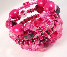 Teen Jewelry Metallic Bracelet Pink Stacked by foreverandrea