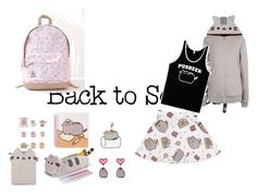"""""""#PVxPusheen"""" by sikou on Polyvore featuring Pusheen, contestentry and PVxPusheen"""