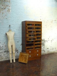 Being able to SEE into the drawers! Genius! haberdashery chest