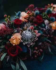 "271 Likes, 4 Comments - Wedding Ideas (@weddingideas) on Instagram: ""Winter wedding floral table runner of dreams  find more like this on our burgundy pinterest…"""