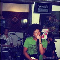 years ago at Pickwicks Pub  @jeffbhasker , @epandagram and I use to rock out and melt faces for all 14 people who showed up. That's including family members,  co workers and the bartender kim.  #OGShit #DartBoardOverTheDrums #WhatsMyHairDoing #SingingForTipsAndBooze #SoMuchFun