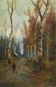 Road in the Forest, 1918  Julius Sergius von Klever (31 Jan 1850 - 24 Dec 1924)