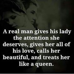 A wife loves her husband who gives her attention she needs.