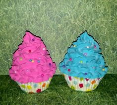 Bright+Pink+and+Turquoise+Polka+Dots+Fake+by+FakeCupcakeCreations,+$20.00