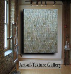 Abstract Textured Painting 34 x 44 Custom Original Heavy