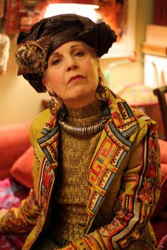 Wonderful colourful style - love the hat and jacket - ADVANCED STYLE: The Art of Dressing Up