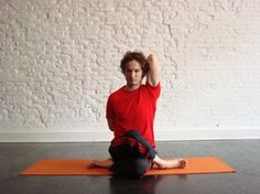 Cow Face Pose-From hands and knees, cross one knee behind the other, and rest it outside of the opposite calf. Keep the back knee pressed forward, widen your ankles out to the sides, and lower your hips to sit down between your heels.