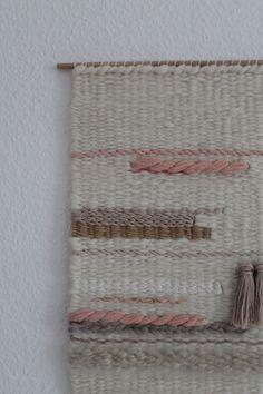 Wanddeko - Handgewebter Wandteppich || ISABELLE - ein Designerstück von mapeela bei DaWanda