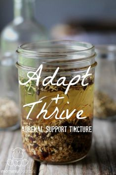 Adrenal Support Tincture Recipe - This tincture incorporates stress-busting adaptogens that have a nourishing, balancing effect on the body. Holistic Health Tips for Beginners, Plant Based Medicine Herbal Tinctures, Herbalism, Herbal Oil, Natural Health Remedies, Herbal Remedies, Holistic Remedies, Cold Remedies, Natural Cures, Natural Medicine