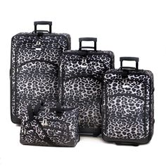 Snow Leopard Luggage Set