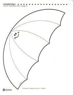 umbrella pattern for preschool crafts print your umbrella template at 256