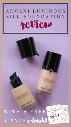 Do you want a perfected but not cakey foundation? Do you want flawless skin that radiates? Do you want to know what the best foundation is for dry or oily skin? My review of the Armani Luminous Silk foundation can be found here along with the FREE 5-page e-book all about foundation and perfecting your base. Click here to get access!