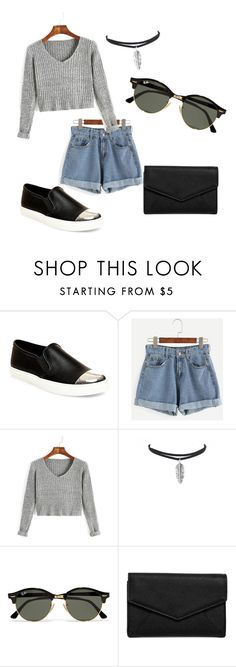 """"""""""" by audrey-ann-collin on Polyvore featuring mode, Steve Madden, Ray-Ban et LULUS"""