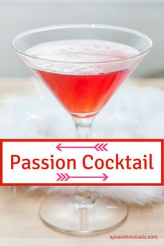 Passion Cocktail is a Valentine's Day tequila cocktail packed with a great flavor. #tequilacocktails