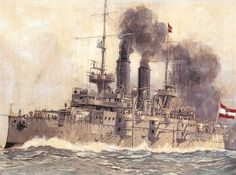 Austro-Hungarian battleship SMS Habsburg (launched 1900).