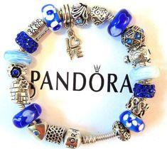 31c4b4c9b Authentic Pandora Sterling Silver Bracelet with European Charms Love # PANDORA #Charm Pandora Bracelets,