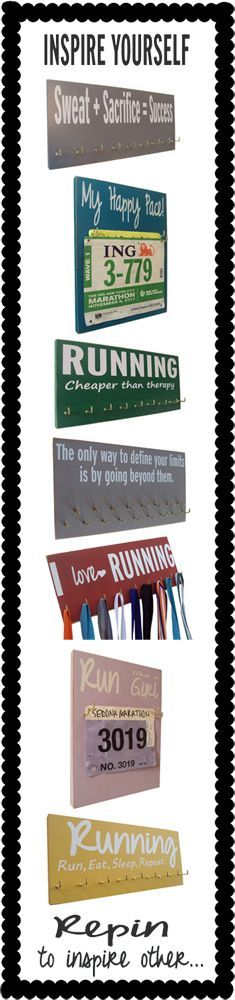 Motivational running : inspiring yourself with running quotes   Running On The Wall$28.00 each