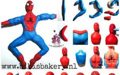 Image result for spiderman tutorial in fondant