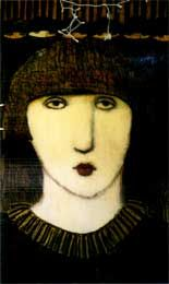 Porch Face by Cynthia Markert :: Stolen Art last seen in Knoxville, TN. Notify artist if seen.