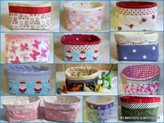 Storage Basket Small - The Supermums Craft Fair. Do with Christmas fabric, and fill with sweets, toiletries or other.