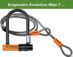 "Kryptonite Evolution Mini-7 + Kryptoflex 4' Cable - 3.25"" x 7"", w/ 4' x 10mm Flex Cable. Kryptonite Evolution Mini U-Lock is the ultimate choice for bike messengers world wide with security rating of 7 out of 10."