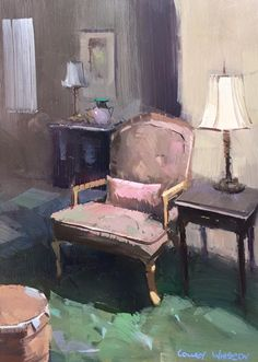 "Colley Whisson     ·  The Best Seat in the House, Aust Oil 10""x 7""."