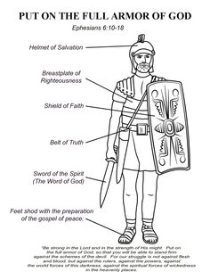Printable Armor Of God Coloring Page For Kids