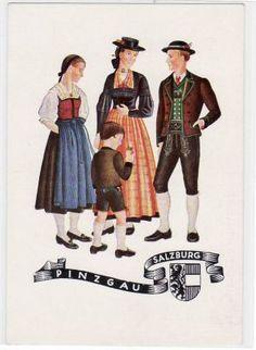 Alte Ansichtskarte Pinzgau-Salzburg