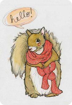 Squirrel 4 x 6 Notecard by SarahDrawsThings on Etsy, $3.50