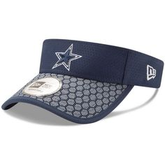 New Era Dallas Cowboys Sideline Visor ($26) ❤ liked on Polyvore featuring accessories and sun visor
