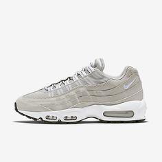best sneakers 5286a b45f5 Chaussure Nike Air Max 95 Pas Cher Homme Granite Noir Blanc