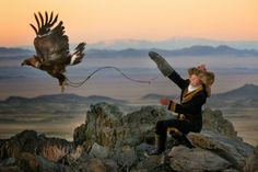 Young Girls with Eagles, When Women Were Birds: Photographer Svidensky in Mongolia.  New post at All Things Literary. All Things Natural.
