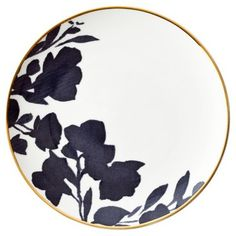 Check out this item at One Kings Lane! Audrey Bread Plate w/ 24-Kt Gold