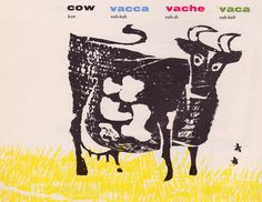 See and Say: A Picture Book in Four Languages woodcuts by Antonio Frasconi (1955).