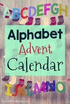 Preschool or Kindergarten Activity:  Alphabet Advent Calendar: Cute advent calendar that counts down to Jesus's birthday using letters, not numbers.