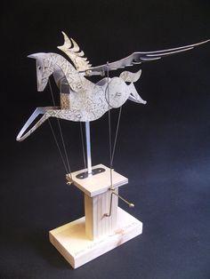 White and Gold Pegasus Automata. via Etsy. by Newsteadautomata