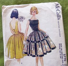 Early 1960s Vintage  Sewing Pattern  MCCalls 5770  by SelvedgeShop, $22.00