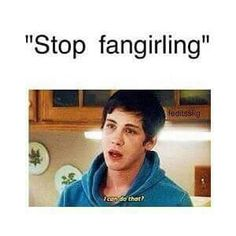 I just can't especially the Percy Jackson books! Percy Jackson Memes, Percy Jackson Fandom, Slender Man, Hunger Games, Mathew Espinosa, Fangirl Problems, Nerd Problems, Logan Lerman, Dc Memes