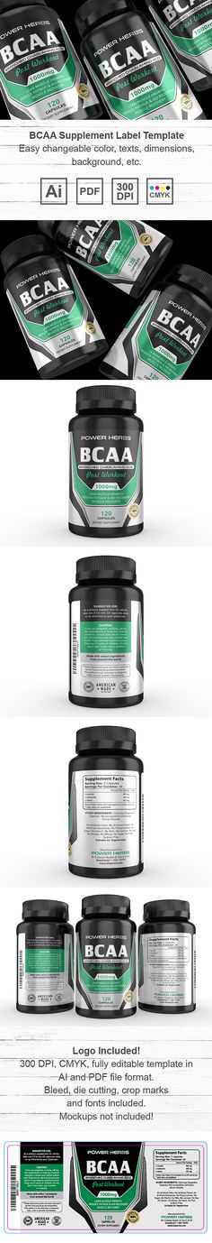 Organic Spirulina Supplement Label Template $59 Creative - packing label template