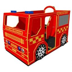 Fire and Rescue Truck. Made from HDPE which will not rot, crack or fade in the sun. What fun playtime would be!