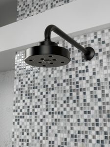 Delta Faucet Odin™ 2 gpm 1-Function Wall Mount Plastic Showerhead in Matte Black D87375BL