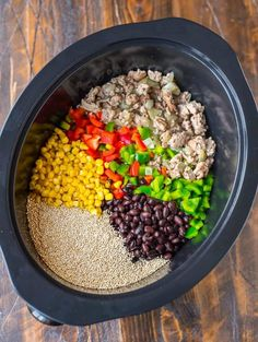 Crock Pot Mexican Casserole with Quinoa Black Beans and Ground Turkey. An easy h… Crock Pot Mexican Casserole mit Quinoa Black Beans und gemahlenem Truthahn. Ground Turkey Slow Cooker, Ground Turkey Soup, Healthy Ground Turkey, Ground Turkey Casserole, Easy Ground Turkey Recipes, Turkey Cooker, Healthy Casserole Recipes, Healthy Crockpot Recipes, Soup Recipes
