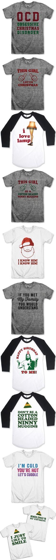 + 11 Christmas T-Shirts You're Going To Want To Self Gift + Our Chistmas Shirts are perfect for giving yourself a present, and even more perfect to share with your BFF! We've got TONS of matching shirts, and lots of funny and sarcastic tees for everyone! Check out T Shirts From Your Favorite Movies, or one of our other collections like Couples shirts and Fitspo Tees. We've got Fresh Designs for Funny T Shirts that are guaranteed to make you Laugh Out Loud! :-) Awesome Best Friends Tees!