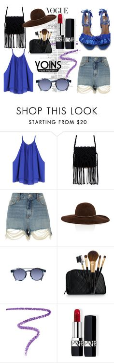 """""""YOINS #21"""" by sandralalala ❤ liked on Polyvore featuring River Island, Eugenia Kim, Linda Farrow, Elizabeth Arden, Marc Jacobs and Christian Dior"""