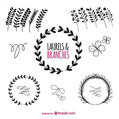 Laurels Graphic Elements Free Vector