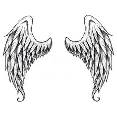 """These lovely wings are the perfect size for putting on your back or shoulders! Trick your friends and family into thinking you were sent from heaven! Size: 6.5"""" x 7"""" - Lasts 5-7 days even with swimmin #wingstattoosonback"""