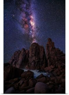 Lincoln Harrison Poster Print Wall Art Print entitled Pinnacles Milky Way
